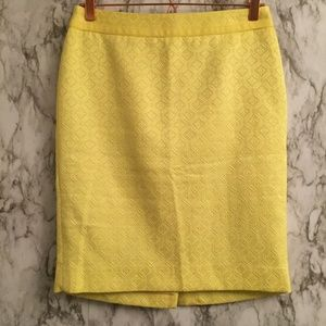 The Limited Yellow Embossed Pencil Skirt WSe